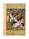 The Prophet Muhammad And the Muslim Army At the Battle of Uhud Giclee Print