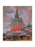 Red Tower in the Trinity Lavra of St. Sergius Giclee Print by Boris Kustodiyev