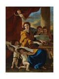 Saint Cecilia Giclee Print by Nicolas Poussin