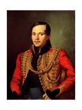 Portrait of the Poet Mikhail Lermontov (1814-1841) Giclee Print by Pyotr Yefimovich Zabolotsky