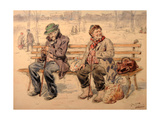 Pessimist And Optimist Giclee Print by Vladimir Yegorovich Makovsky