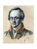 Portrait of the Poet Anton A. Delvig (1798-1831) Giclee Print by Valerian Platonovich Langer