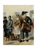 A Servant Take the Dogs Out Giclee Print by Rudolf Kasimirovich Zhukovsky