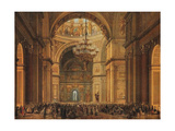 Church Service in the Saint Isaac's Cathedral in Saint Petersburg Giclee Print