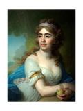 Portrait of Skobeyeva Giclee Print by Vladimir Lukich Borovikovsky