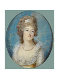 Portrait of Queen Marie Antoinette With a Pearl Necklace Giclee Print by Francois Dumont