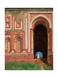 Qutub Minar. a Surrounding Gate in Old Delhi Giclee Print by Vasili Vasilyevich Vereshchagin