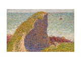 Le Bec Du Hoc, Grandcamp (Study) Giclee Print by Georges Seurat