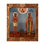 Basil the Blessed And Saint Mary of Egypt Giclee Print by Osip Semionovich Chirikov