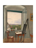 View From the Artist's Studio in Alservorstadt Toward Dornbach Giclee Print by Jakob Alt
