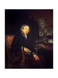 Portrait of the Artist Dimitri Levitsky (1735-1822) Giclee Print by Ivan Eremeevich Yakovlev