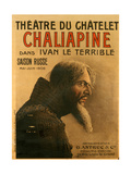Poster for the Saison Russe At the Theatre Du Chatelet Giclee Print