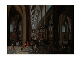 Interior of Antwerp Cathedral Giclee Print by Pieter Neeffs the Elder
