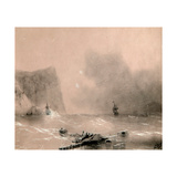 The Disaster of the British Fleet Off the Coast of Balaclava on November 14th, 1854 Giclee Print