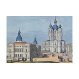 The Smolny Resurrection Cathedral in Saint Petersburg Giclee Print