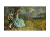 Mr And Mrs Andrews Giclee Print by Thomas Gainsborough