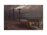 Night At Calvary Giclee Print by Vasili Petrovich Vereshchagin