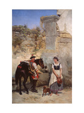 Scene At the Well Giclee Print by Gottfried Willewalde