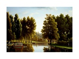 The Park At Mortefontaine Giclee Print by Jean Joseph Xavier Bidauld