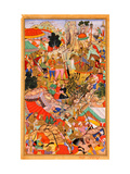 Tayang Khan Presented With the Head of the Mongol Leader Ong Khan Giclee Print