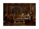 The Conversation Giclee Print by Jean-Baptiste Vanmour