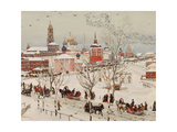 View of the Trinity Lavra of St. Sergius From Railway Station Street Giclee Print