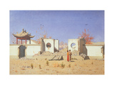 A Chinese Temple Ruin in Akkent Giclee Print by Vasili Vasilyevich Vereshchagin