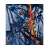 Fire in the City Giclee-trykk av Olga Vladimirovna Rozanova