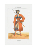 A Kabardin Man (From: Scenes, Paysages, Meurs Et Costumes Du Caucase) Giclee Print