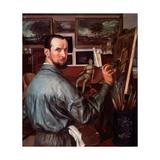 Self-portrait Giclee Print by Alexander Yevgenyevich Yakovlev