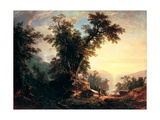 The Indian's Vespers Giclee Print by Asher Brown Durand