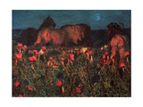 Night Is Coming Giclee Print by Mikhail Alexandrovich Vrubel