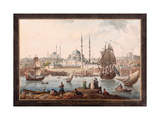 The Yeni Cami And the Port of Istanbul Giclee Print by Jean-Baptiste Hilair