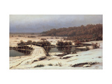 Early Snow Giclee Print by Yefim Yefimovich Volkov