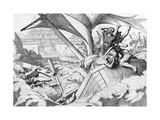 The Destruction of the Rus Fleet At Constantinople Giclee Print by Fyodor Antonovich Bruni