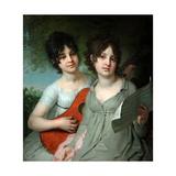Portrait of Countesses Anna Gagarina And Varvara Gagarina Giclee Print