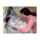 At the Cradle Giclee Print by Nikolai Alexandrovich Tarkhov