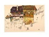 Old Houses in Krumau Giclee Print by Egon Schiele