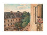 View of the Alservorstadt Giclee Print by Rudolf von Alt