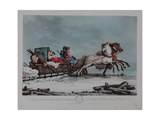 The Winter Russian Travelling Carriage Giclee Print by Matthew Dubourg