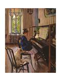 At the Piano Giclée-Druck von Sergei Arsenyevich Vinogradov