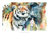 Herr Tiger Poster av Lora Zombie