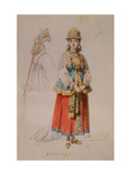 Costume Design for the Opera a Life for the Tsar by M. Glinka Giclee Print by Adolf Charlemagne