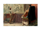 The Sculptor's Studio Giclee Print by Tom Roberts