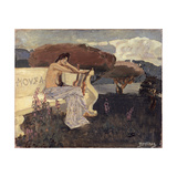 Muse. Design for a Theatre Curtain Giclee Print by Mikhail Alexandrovich Vrubel