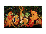 Gathering Apples Giclee Print by Valentin Alexandrovich Yakovlev