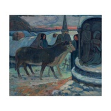 Christmas Night (The Blessing of the Oxen) Giclee Print by Paul Gauguin