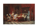 Artemy Volynsky At a Russian Cabinet Sitting Giclee Print by Valery Ivanovich Jacobi