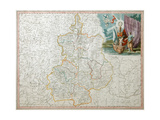 Map of Voronezh Governorate Giclee Print by Alexander Wilbrecht