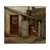 Girl With Bird At the King Street Bakery Giclee Print by Frederick McCubbin